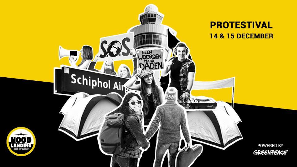 Noodlanding: massa-actie Schiphol 14 december - 15 december