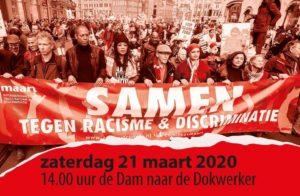 Samen tegen racisme en discriminatie 21 maart 14.00